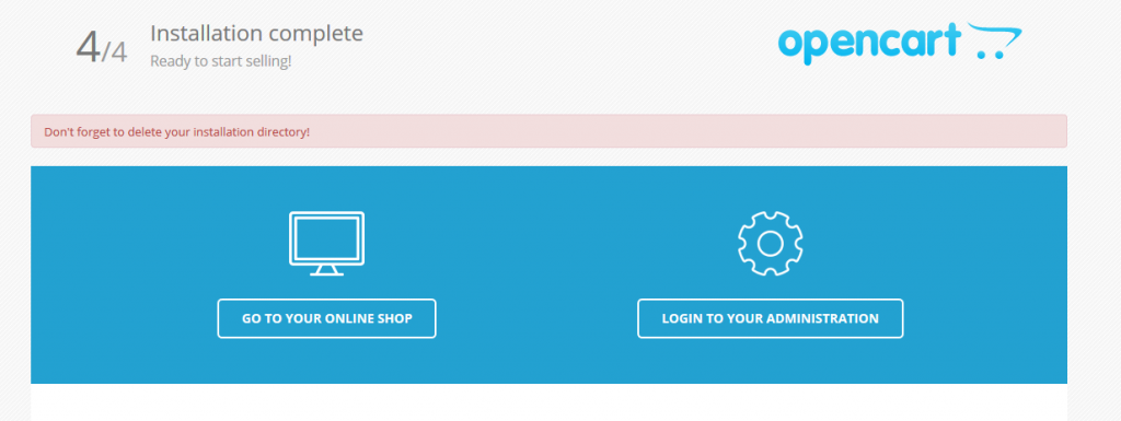Установка OpenCart на хостинг