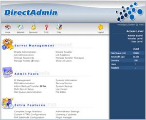 контрольная панель DirectAdmin